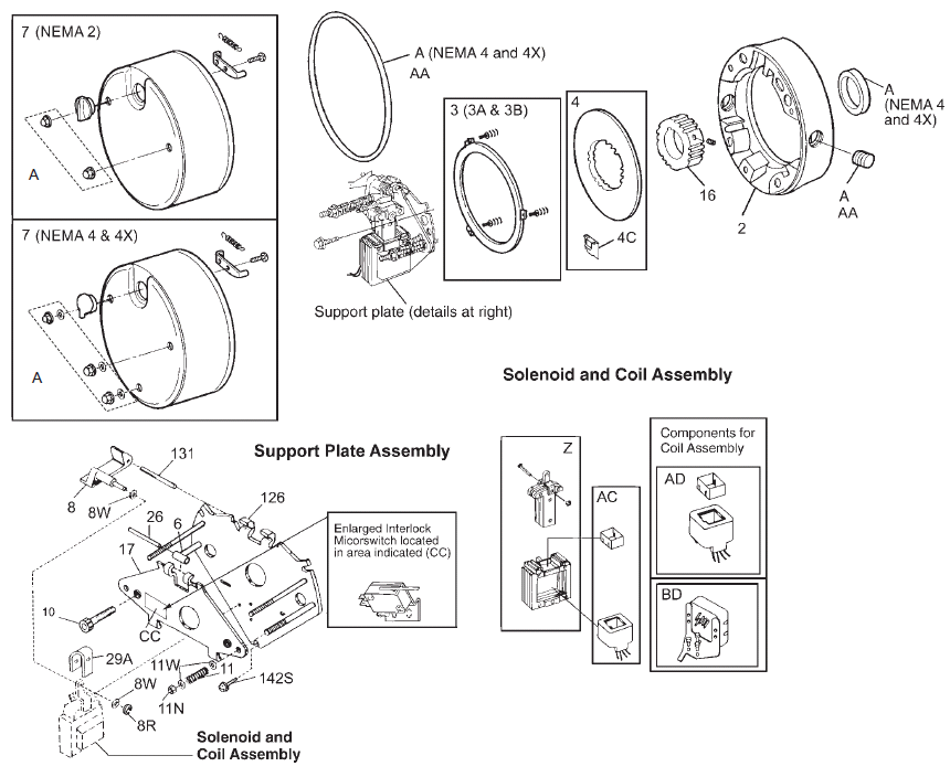 Stearns Products Brakes Motor Mounted Brakes